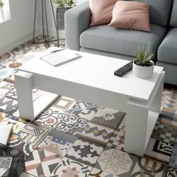 NOVA - Table Basse relevable Finition Blanc artik