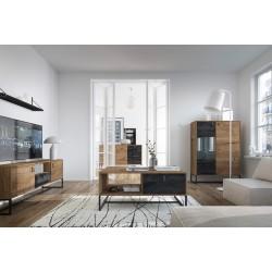 Salon complet DARK style industriel avec pieds en métal effet vintage, loft moderne