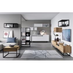 Salon complet ENJOY style loft avec pieds métal. Industriel moderne et design