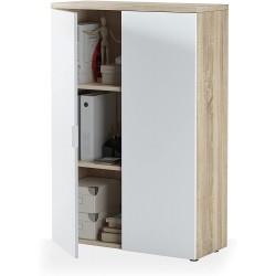 Meuble de Bureau Blanc et Chêne Canadian 119 x 80 x 32,5 cm