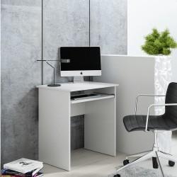 Petit bureau d'ordinateur LUNA blanc 68 cm