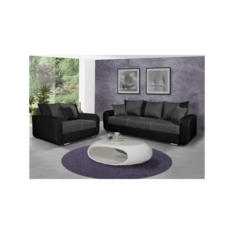 canap droit calypso simili cuir. Black Bedroom Furniture Sets. Home Design Ideas