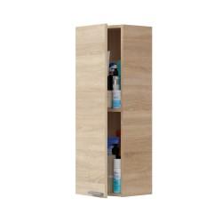 KONCET - Colonne 1 portes suspendue couleur bois clair