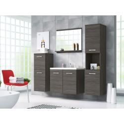 Meubles salle de bain MALINO couleur gris foncé mat
