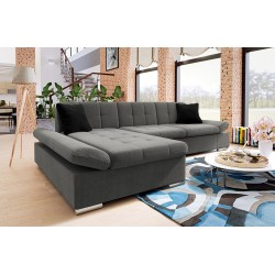 Canapé d'angle convertible + coffre MALWI