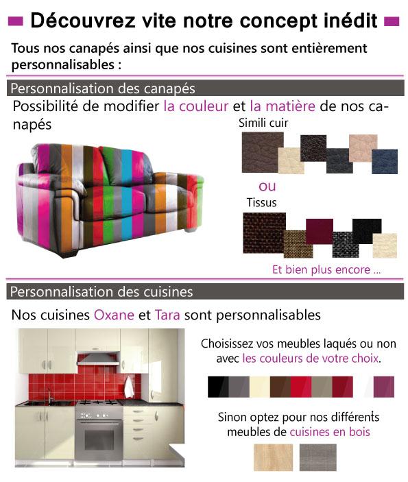 personnalisez vos canapés et votre mobilier, couleur matière